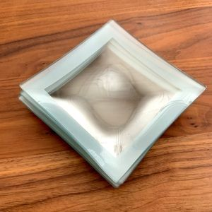 Dining - Tempered Glass Serving Plates (set of four)